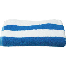 Cabana Stripe Pool Towel 30x70 15Lbs/Dozen White And Blue Stripe 12/Case