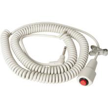 """Nurse Call Cord Momentary 1/4"""" Phono Plug 12' Coiled Cord"""