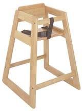 CSL Light Wood Wood Economy Plus High Chair