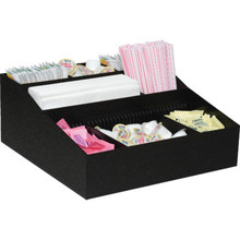 Lobby Coffee Condiment Organizer Black Plastic