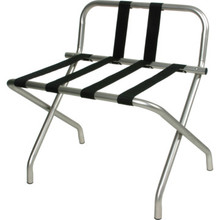 Luggage Rack Chrome With Backrest And Two Straps