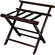 Aristocrat Luggage Rack Rosewood With Backrest