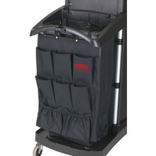 9 Pocket Housekeeping Cart Organizer Black