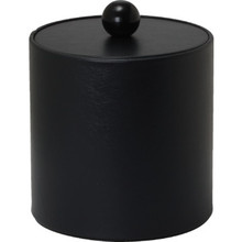3 Quart Deluxe Leatherette Round Ice Bucket Black