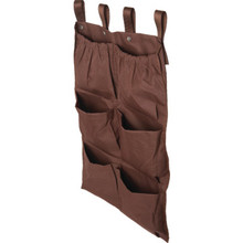 6 Pocket Housekeeping Cart Caddy Brown