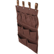 9 Pocket Housekeeping Cart Caddy Brown