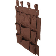 12 Pocket Housekeeping Cart Caddy Brown