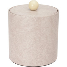 3 Quart Deluxe Leatherette Round Ice Bucket Taupe