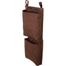 2 Pocket Housekeeping Cart Caddy Brown