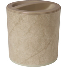 3 Quart Design Leatherette Round Ice Bucket White