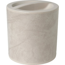 3 Quart Design Leatherette Round Ice Bucket Taupe