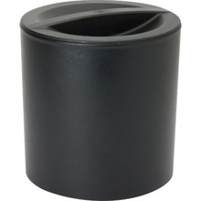 3 Quart Design Leatherette Round Ice Bucket Black