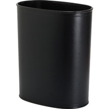13 Quart Leatherette Trash Can Black