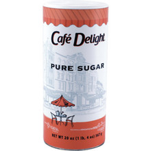 Cafe Delight Pure Sugar Canister Package of 24