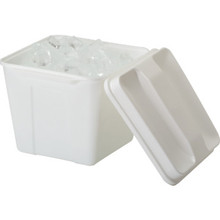 3 Quart Plastic Square Ice Bucket White