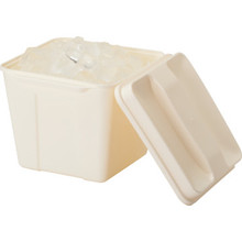 3 Quart Plastic Square Ice Bucket Cream 36/PKG