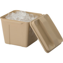 3 Quart Plastic Square Ice Bucket Beige 36/PKG