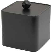 3 Quart Deluxe Leatherette Square Ice Bucket Black