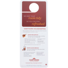 Hawthorn Suites Housekeeping Door Hanger, Case of 100