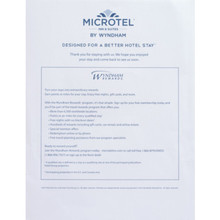 Microtel Inn and Suites Guest Folio Insert, Case of 100