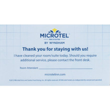 Microtel Inn and Suites Housekeeping Card, Case of 100
