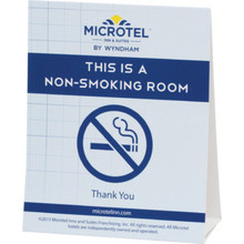 Microtel Inn and Suites No Smoking Tent Card, Case of 100