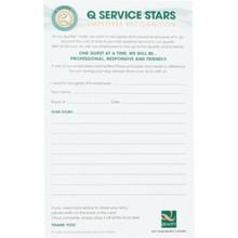 Q Service Stars Guest Comment Card  100 count