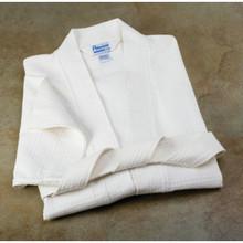 "Waffle Weave Robe Kimono 7 Ounce 48"" Length 60"" Sweep White"