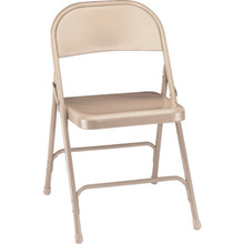 NPSC Beige Steel Folding Chair Package Of 4
