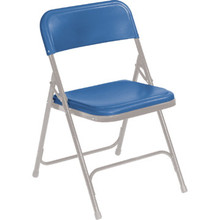 NPSC Blue Plastic Folding Chair Package Of 4