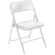 NPSC White Plastic Folding Chair Package Of 4
