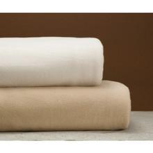 Cotton Bay Ashby Fleece Blanket Twin 72x90 Ivory
