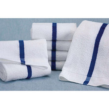 Martex Pool Towel 20x40 5.5 Lbs/Doz White With Blue Center Stripe Case Of 12
