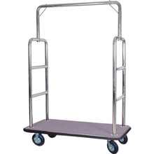 CSL Stainless Steel Bellman's Cart Gray Deck