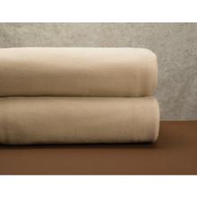 Cotton Bay Ashby Fleece Blanket Full 80x90 Tan
