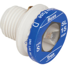15 Amp Time Delay Plug Fuse - SL Base - Package of 4