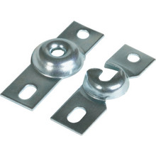 Silver Inside Mount Roller Shade Bracket Package Of 2