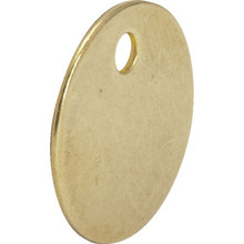 1 Diameter Brass Tags 10/Pk