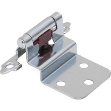 3/8 Inset Self Closing Hinge Pair Polished Chrome Finish Package of 50
