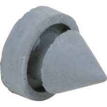 Steel Jamb Door Rubber Bumper, Package of 100