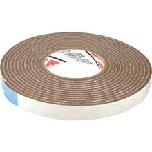 "17' Length x 3/8"" Width Vinyl Foam Tape Brown"