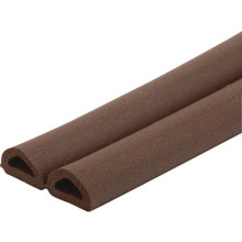 "5/16""W x 1/4""H x 17' EPDM Rubber Weatherstrip Brown"