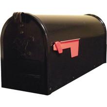 Standard Galvanized Steel Rural Mailbox Black