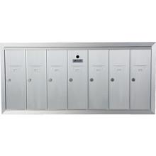 7 Door Recessed Mailbox Bank Silver