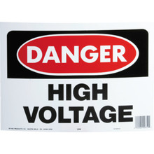 """Danger High Voltage"" Sign"