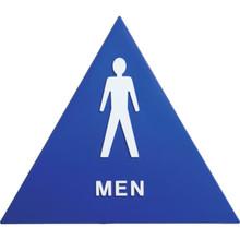 "Plastic Triangle ""Men"" Restroom Sign"