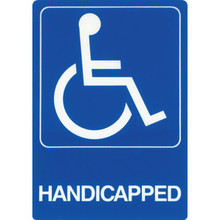 "Plastic ""Handicapped"" Sign"