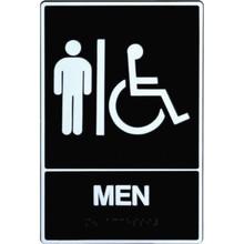 """Plastic Braille """"Men/Wheelchair"""" Sign"""
