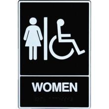 """Plastic Braille """"Women/Wheelchair"""" Sign"""