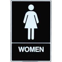 "Plastic Braille ""Women"" Sign"